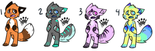 Kitty anthro Adopts [Closed] by lonely-galaxies