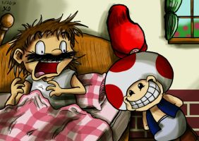 Wake Up With the Toad by Nintendo-Nut1