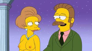 The Simpsons - topless Edna Krabappel by 2ndChainMale