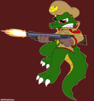 Crocodile Commando by NO-Body-The-Dragon