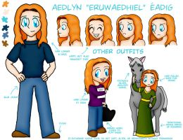 Aedlyn Reference Sheet by Ariniel