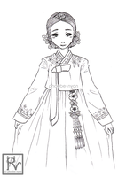 [Traditional Costume] Hanbok by phoebe-nyan