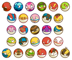 Voltorb Variety by Pombei