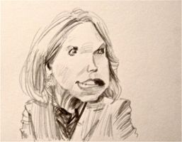 Katie Couric Caricature by aaronphilby