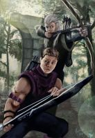 Hawkeye/Legolas Cross-over by superhermit