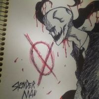 Inked slenderman -my version by OpticDeviant