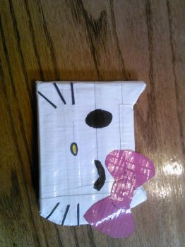 Hello Kitty duct tape wallet! by DemonKing113