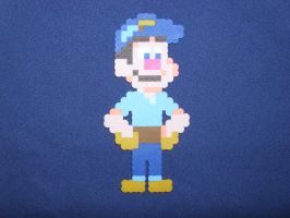 Fix-It-Felix Jr. (Wreck-It-Ralph) by PerlerPixelPals