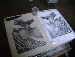 Making Lithography by BlackSnakeSister-art