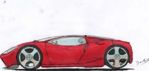 Rendered Supercar by Lazarus-Firenze