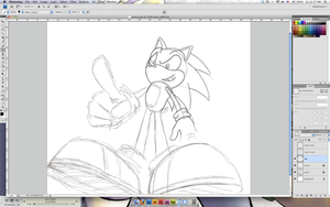 Sonic the Hedgehog WIP by charliegaines