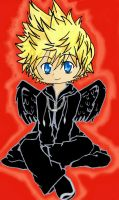 Roxas-Dark winged with no halo by HAPPLES-XD
