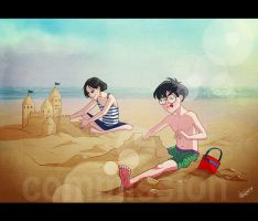 HP: Castles in the sand by Loleia