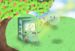 BMO and Bubble by Neon-Fizz