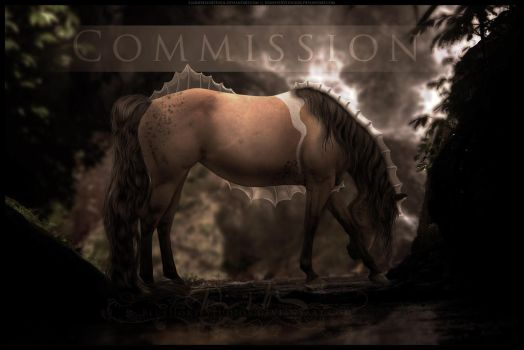 COMMISSION: Cave Dweller by BlueHorseStudios