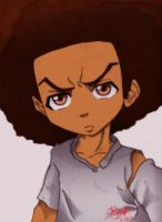 Huey Freeman colored by shelbicg