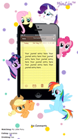 My Little Pony IPhone Journal Skin by yinlin1994