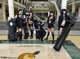 Black*Rock Shooter Group 1 by Insane-Pencil