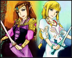 Zelda and Zelda by Christy58ying
