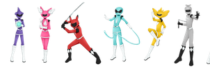 Power Rangers Pokemon Squad by laeity