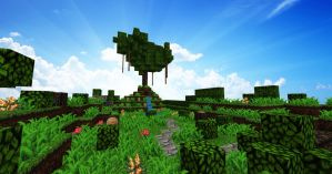 Minecraft tree by trazzit