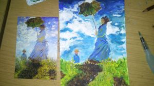 Monet repainting by Mithdel