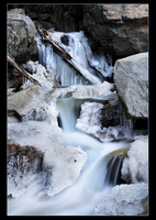 Frozen Falls Creek Falls by narmansk8