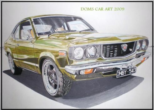 mazda rx3 coupe by domrexsin