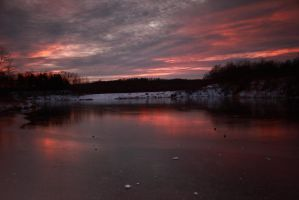 Frozen Sunset by timseydell