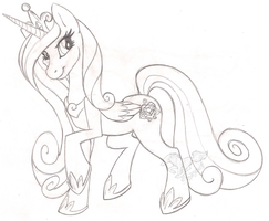 Princess Cadence Sketch by StangWolf