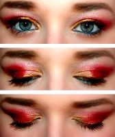 2012 Holiday Look, Red and Gold Bows by HelloDaniDeary