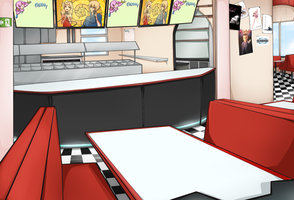 VOCALOID:Restaurant:Background by nekodoru