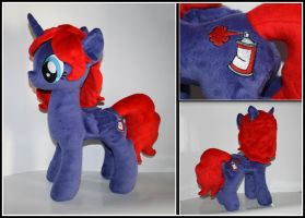 Graffiti - OC Custom Plush Pony by Lavim