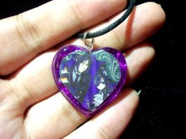 Black Butler Sebastian and Ciel Resin Pendant by TashaAkaTachi