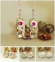 Steampunk Earrings and Cufflinks by Henri-1