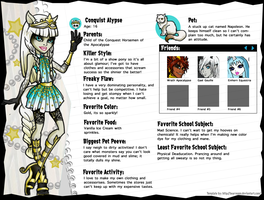 Monster High OC: Conquist Alypse by EvilFuzz