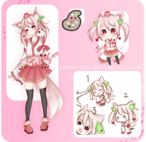 [Auction] Cherry Fox Adoptables (CLOSED) by Josu-San
