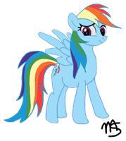 Rainbow Dash colored by MachStyle