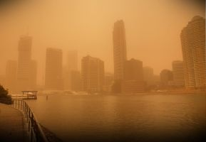 Dust Storm Brisbane by sdeeth