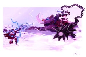 Snow Bunnies by Unmei-bot