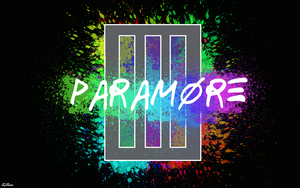 Paramore bars paint splatter wallpaper by JamieGillam