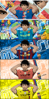 Lionel Messi Tag Wall vector by akyanyme