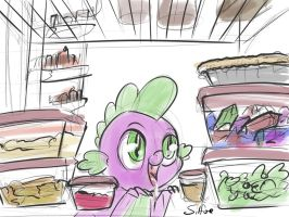 Spike and the Leftovers by SilFoe