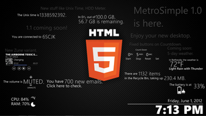 MetroSimple 1.0 for Rainmeter by dmon633