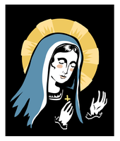 madonna woodcut by gurliebot