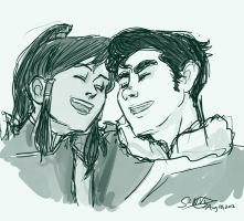 Korra and Bolin by librachik