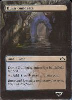 Dimir guildgate mtg card alter by JohnRamb0