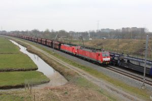 DBS 189 034 and 189 ??? with coaltrain by damenster
