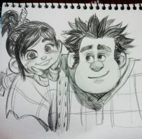 vanellope and ralph by lujji