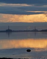 Cromarty Firth rigs at sunset by piglet365